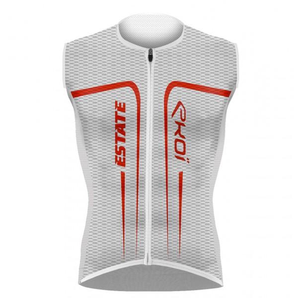 EKOI ESTATE White / Red sleeveless jersey