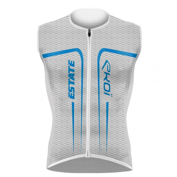 EKOI ESTATE White / Blue sleeveless jersey