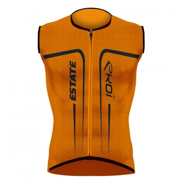 EKOI ESTATE Orange fluo sleeveless jersey