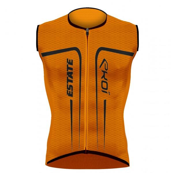 EKOI ESTATE Orange fluo sleeveless jersey