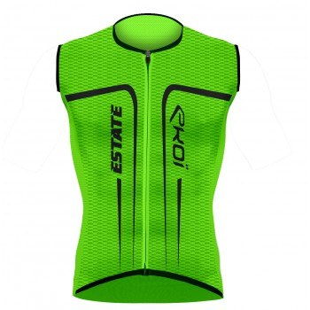 EKOI ESTATE Green fluo sleeveless jersey