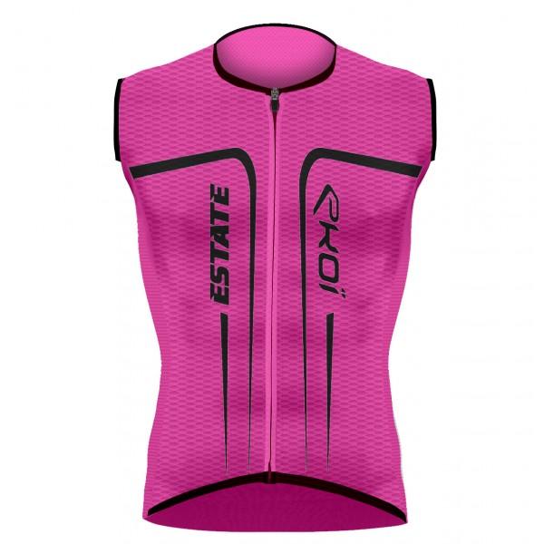 EKOI ESTATE Pink fluo sleeveless jersey