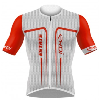 EKOI ESTATE White / Red short sleeve jersey
