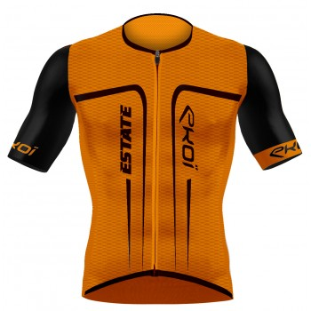 Maillot EKOI ESTATE manches courtes Orange fluo