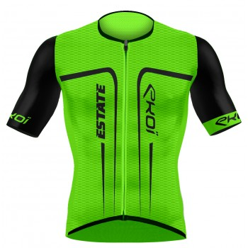 EKOI ESTATE Green fluo short sleeve jersey