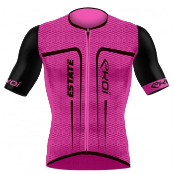 EKOI ESTATE Pink fluo short sleeve jersey