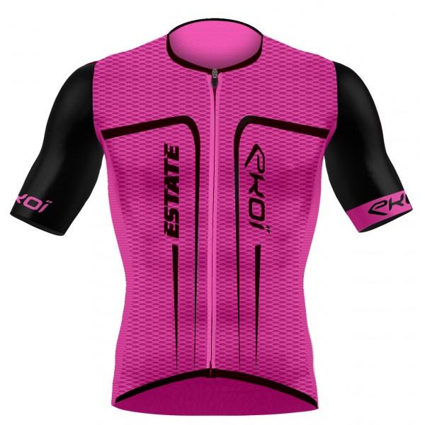 EKOI ESTATE Pink fluo short sleeve jersey