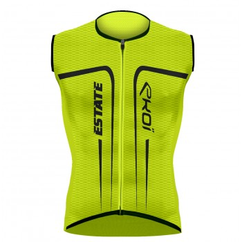 EKOI ESTATE Yellow fluo sleeveless jersey