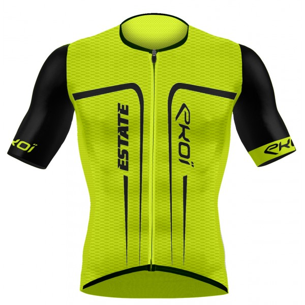 EKOI ESTATE Yellow fluo short sleeve jersey
