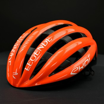 Casque EKOI LEGENDE BLANC ORANGE FLUO