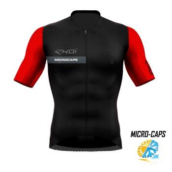 trøje tynd MICROCAPS sort/Rød
