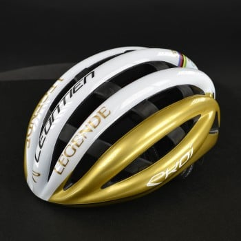 EKOI LEGENDE Matt Black and Gold HELMET
