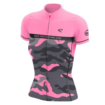 SHIRT  EKOI LADY CYCLING FIGHT ROZE