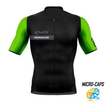 Trøje tynd MICROCAPS sort/Neongrøn