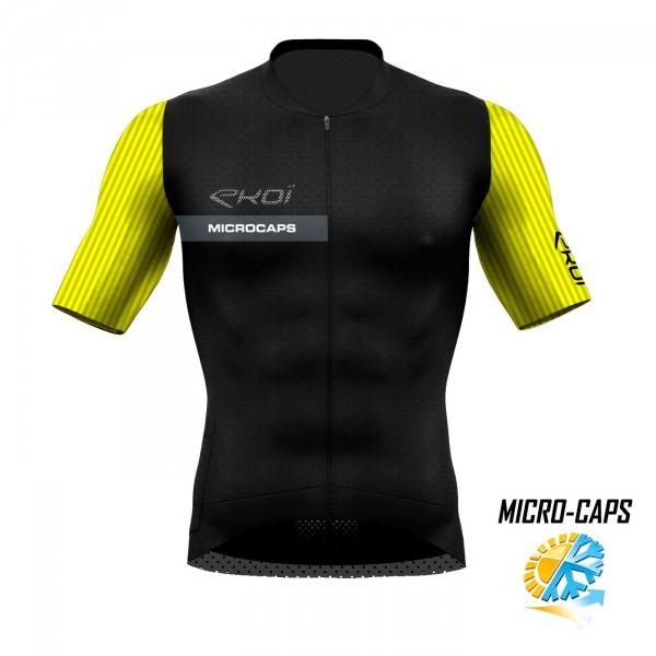 Trøje tynd MICROCAPS sort/Neongul
