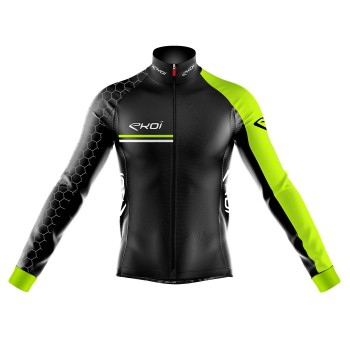 Thermal Jacket Extreme Cold EKOI HEXA 0° C Neon Yellow