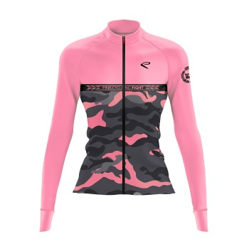 Maillot hiver femme EKOI JUST FOR HER Pink Cycling