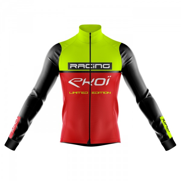 Thermal jacket Extreme Cold EKOI RACING -5° Yellow/Red