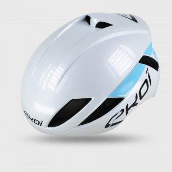 EKOI AR14 Helm wit-blauw