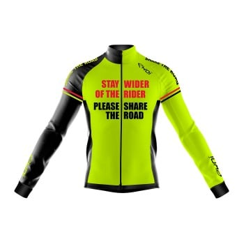Winter Jersey EKOI STAY WIDER Neon Yellow