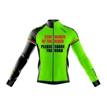 Winter Jersey  EKOI STAY WIDER Neon Green