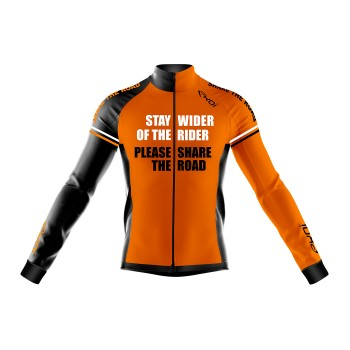 Wintertrikot EKOI STAY WIDER Orange Fluo