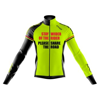 Thermojacke HIVER EKOI STAY WIDER Gelb Fluo