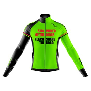 Giacca termica HIVER EKOI STAY WIDER Verde fluo