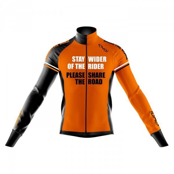 Thermische jas WINTER EKOI STAY WIDER fluo oranje