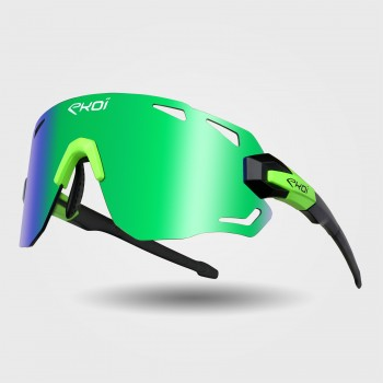 Sunglasses EKOI PREMIUM 70 Black Matt Neon Green REVO