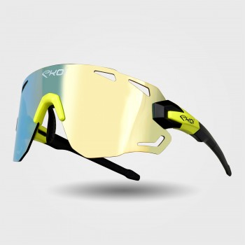 Sunglasses EKOI PREMIUM 70 Black Matt Neon Yellow REVO