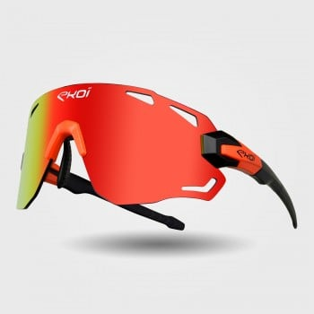 Sunglasses EKOI PREMIUM 70 Black Matt Neon Orange REVO