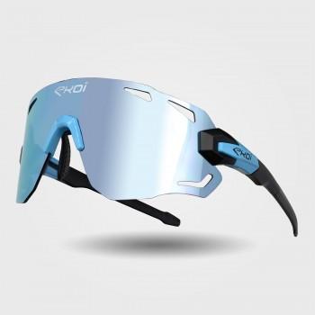 Briller PREMIUM 70 mat sort - linse blå