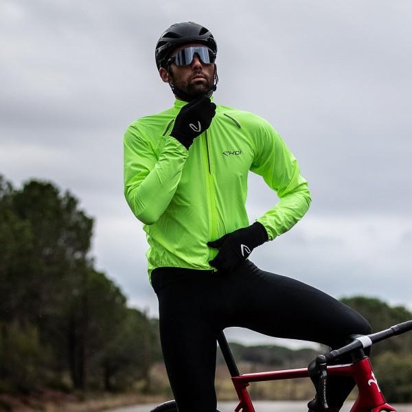 Veste vélo Coupe-vent EKOI ULTRA LIGHT Jaune fluo