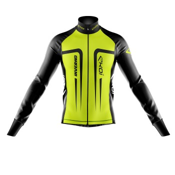 Thermal Winter Jacket EKOI INVERNO Neon Yellow