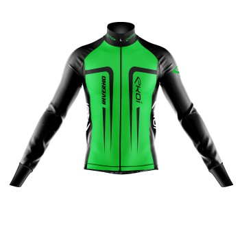 Thermal Winter Jacket  EKOI INVERNO Neon Green