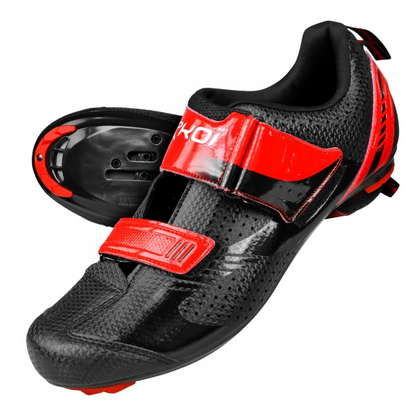 Chaussures Triathlon EKOI TRI ONE Evo Noir Rouge