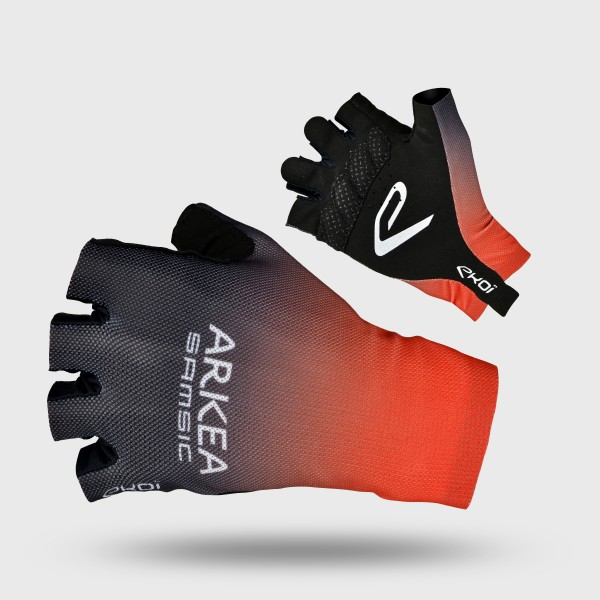 Rękawice kolarskie szosowe Perforowane EKOI Proteam ARKEA SAMSIC