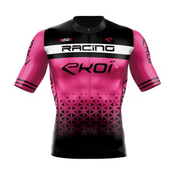Zomershirt EKOI RACING LTD FLUO ROZE