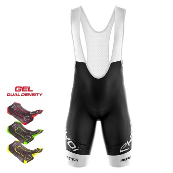 BIBSHORTS 3D GEL EKOI RACING LTD WHITE