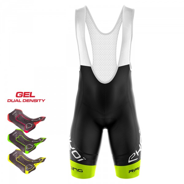 Cuissard 3D GEL EKOI LTD RACING Jaune fluo