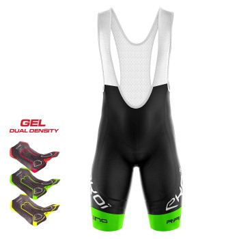 BIBSHORTS  3D GEL EKOI RACING LTD NEON GREEN