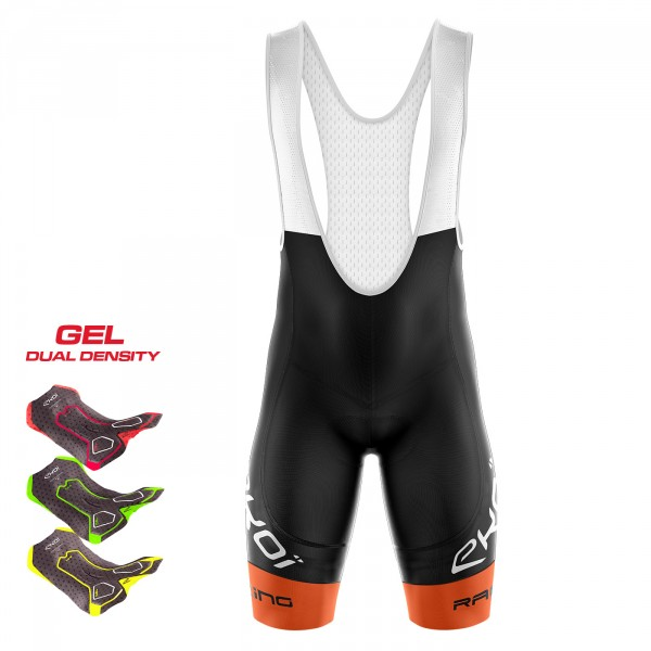 BIBSHORTS 3D GEL EKOI RACING LTD NEON ORANGE
