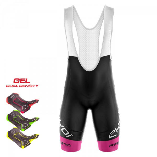 BIBSHORTS 3D GEL EKOI RACING LTD NEON PINK