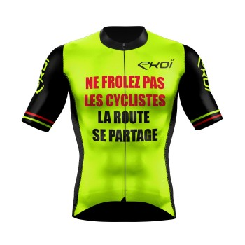 Cycling Jersey  EKOI PROTECT FR Neon Yellow
