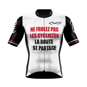 Cycling Jersey  EKOI PROTECT FR White