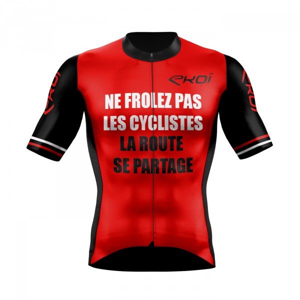 Cycling Jersey  EKOI PROTECT FR Red