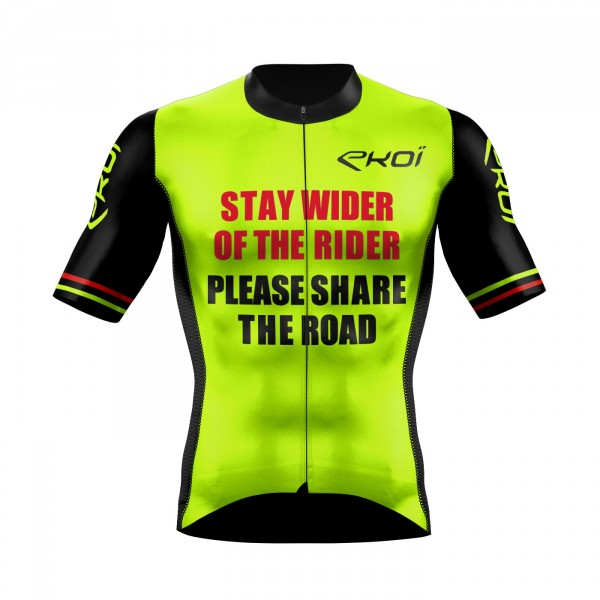 Cycling Jersey  EKOI PROTECT UK Neon Yellow