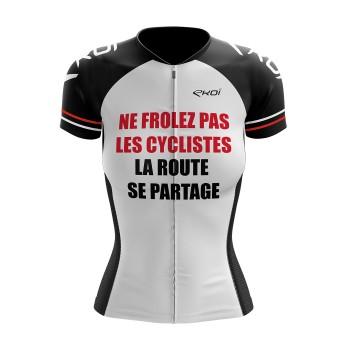 Maillot vélo LADY EKOI PROTECT FR Blanc