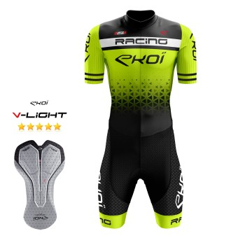 EKOI LTD RACING GEL -skinsuit, neonkeltainen